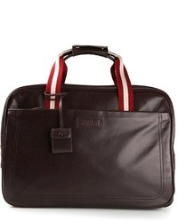 dunkelbraune Leder Reisetasche von Bally