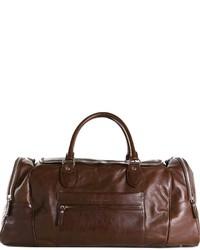 dunkelbraune Leder Reisetasche von Brunello Cucinelli