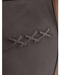 dunkelbraune Leder Reisetasche von Ermenegildo Zegna