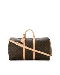 dunkelbraune Leder Reisetasche von Louis Vuitton Vintage