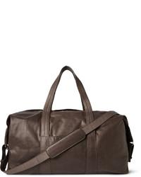 dunkelbraune Leder Reisetasche von Maison Margiela