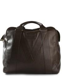 dunkelbraune Leder Reisetasche von Marc by Marc Jacobs