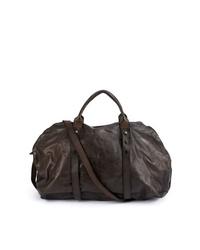 dunkelbraune Leder Reisetasche von Numero 10