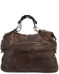 dunkelbraune Leder Reisetasche