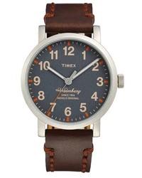 dunkelbraune Leder Uhr