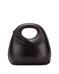 dunkelbraune Leder Umhängetasche von Lemaire