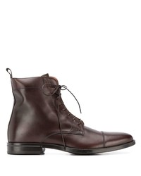 dunkelbraune Lederformelle stiefel von Scarosso