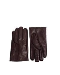 dunkelbraune Lederhandschuhe von Asos