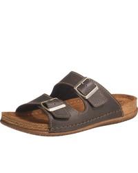 dunkelbraune Ledersandalen von Franken-Schuhe