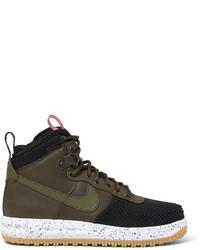 dunkelbraune Lederstiefel von Nike