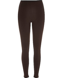 dunkelbraune Leggings