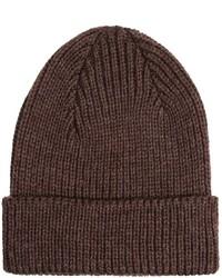 dunkelbraune Mütze