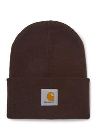 dunkelbraune Mütze von Carhartt WIP