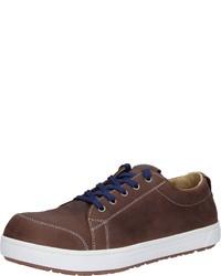 dunkelbraune niedrige Sneakers von Birkenstock