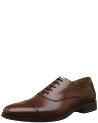 dunkelbraune Oxford Schuhe von Geox