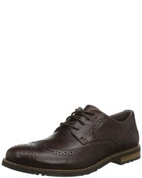dunkelbraune Oxford Schuhe von Rockport