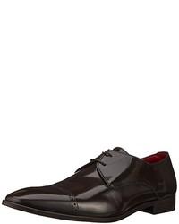 dunkelbraune Oxford Schuhe von Versace