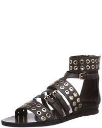 5c9237fe1469c2 Modische dunkelbraune Sandalen für Damen für Winter 2019 kaufen ...