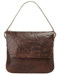 dunkelbraune Satchel-Tasche aus Leder von HAROLD´S