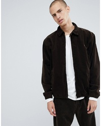 dunkelbraune Shirtjacke aus Cord