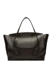 dunkelbraune Shopper Tasche aus Leder von Bottega Veneta