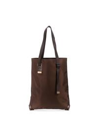 dunkelbraune Shopper Tasche aus Leder von Hender Scheme