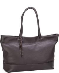 dunkelbraune Shopper Tasche aus Leder von Jost