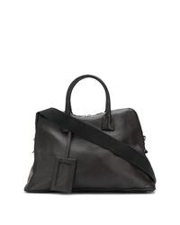 dunkelbraune Shopper Tasche aus Leder von Maison Margiela