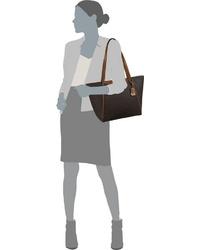 dunkelbraune Shopper Tasche aus Leder von Michael Kors