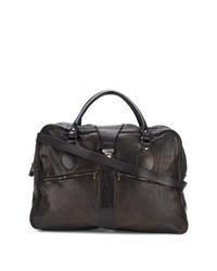 dunkelbraune Shopper Tasche aus Leder von Numero 10