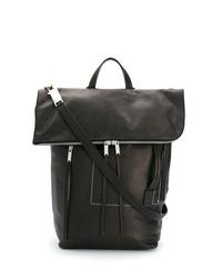 dunkelbraune Shopper Tasche aus Leder von Rick Owens