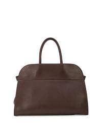 dunkelbraune Shopper Tasche aus Leder von The Row