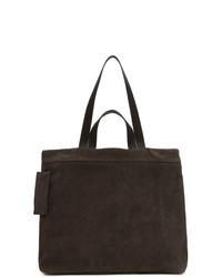 dunkelbraune Shopper Tasche aus Wildleder von Marsèll