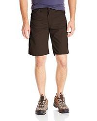 dunkelbraune Shorts