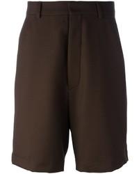 dunkelbraune Shorts von AMI Alexandre Mattiussi