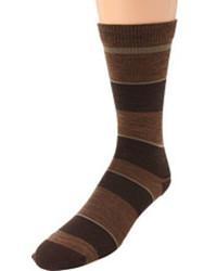 dunkelbraune Socken