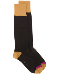 dunkelbraune Socken von Marni