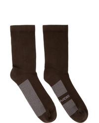 dunkelbraune Socken von Rick Owens