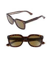 dunkelbraune Sonnenbrille mit Leopardenmuster