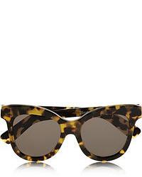 dunkelbraune Sonnenbrille mit Leopardenmuster von Illesteva