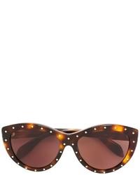 dunkelbraune Sonnenbrille von Alexander McQueen