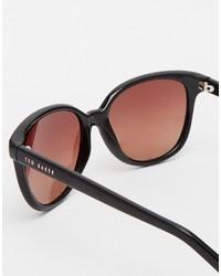 dunkelbraune Sonnenbrille von Ted Baker