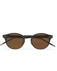 dunkelbraune Sonnenbrille von Bottega Veneta