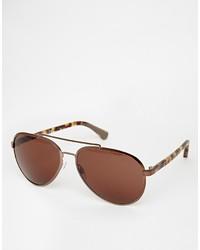 dunkelbraune Sonnenbrille von Emporio Armani