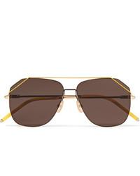 dunkelbraune Sonnenbrille von Fendi