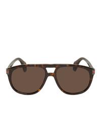 dunkelbraune Sonnenbrille von Gucci