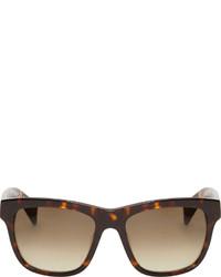 dunkelbraune Sonnenbrille von Jil Sander