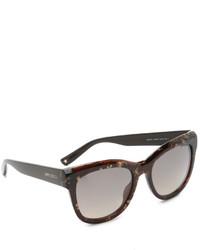 dunkelbraune Sonnenbrille von Jimmy Choo