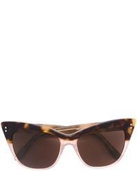 dunkelbraune Sonnenbrille von Linda Farrow Gallery