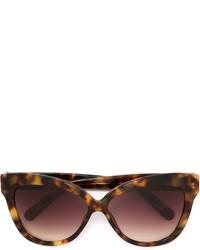 dunkelbraune Sonnenbrille von Linda Farrow